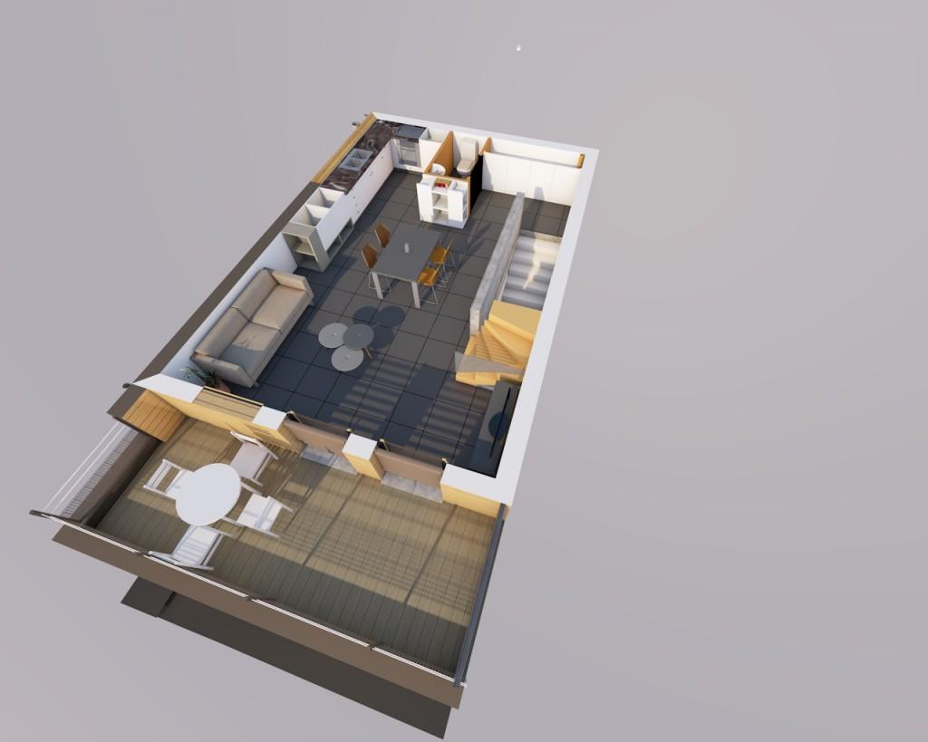 Résidence les grangettes - ossature bois - conception: VERLY Architecture - entreprise ALD constructions bois